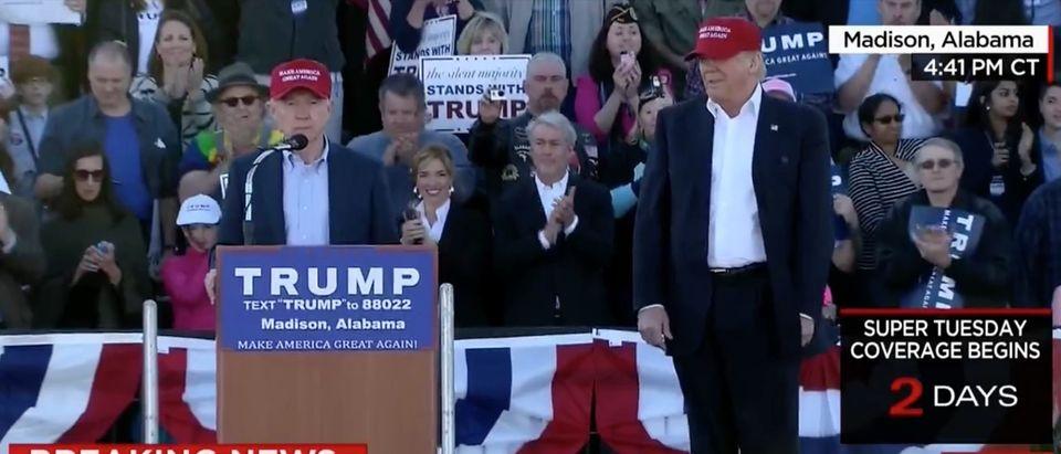 Sen. Jeff Sessions, Donald Trump Screen shot CNN 2-28-2016