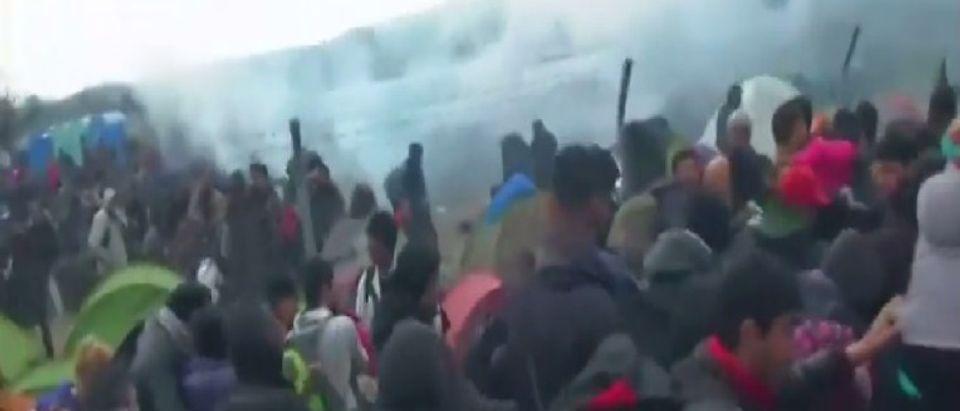Syrian Refugees at Idomeni Border Camp