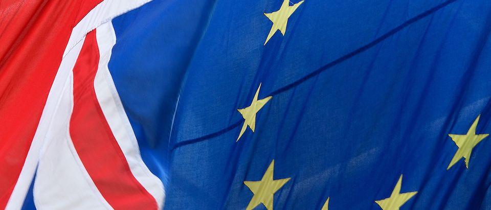 European Flags Flying In The UK