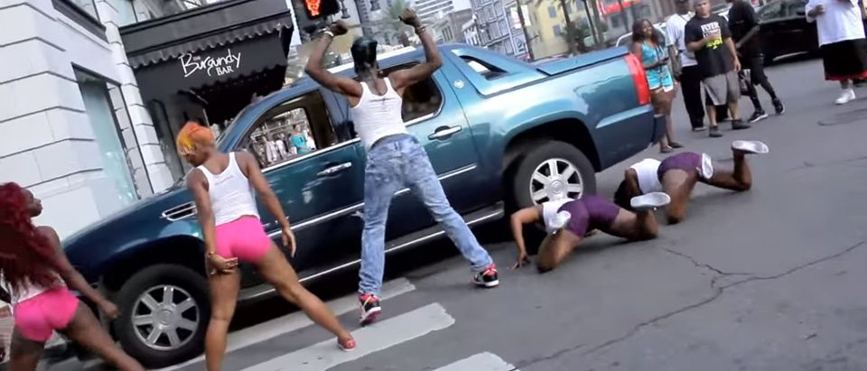 Big Freedia twerking in music video. (Source: Youtube Screen shot/Duffy Music Video by The Queen Diva TV)