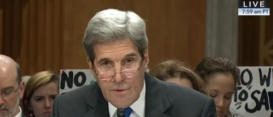 Sec. of State John Kerry testifies in front of the Senate Foreign Relations Committee, Feb. 23, 2016. (C-SPAN)