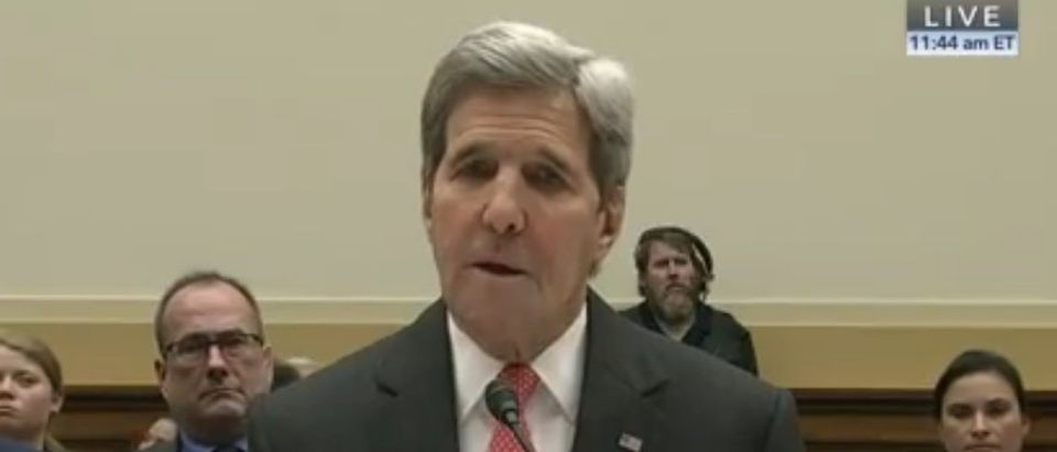 Sec. of State John Kerry testifies at the House Foreign Affairs Committee, Feb. 25, 2016.