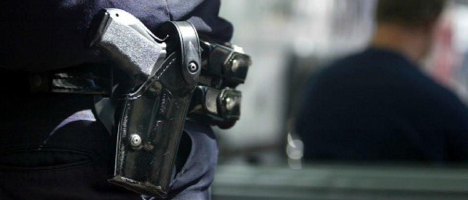 police gun holster Getty Images/Nell Redmond