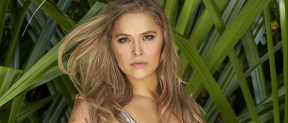 Ronda Rousey wears body paint