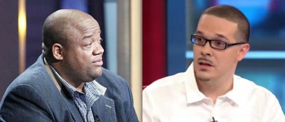 Radio host Jason Whitlock (Getty Images) and Shaun King (Youtube screen grab)