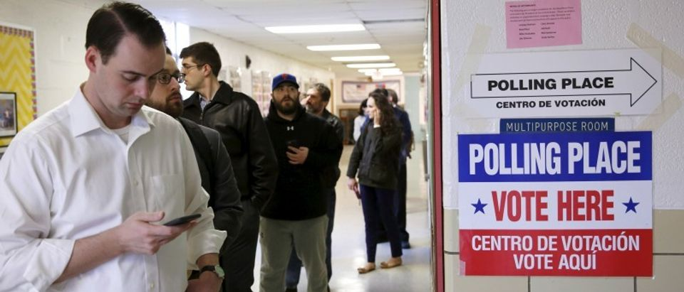 Virginia voters line up early to cast ballots in Super Tuesday elections in Arlington, Virginia
