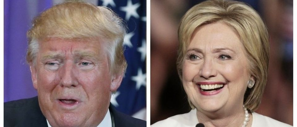 A combination photo of Republican U.S. presidential candidate Donald Trump and Democratic U.S. presidential candidate Hillary Clinton