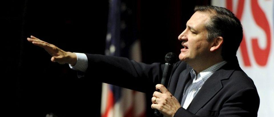 U.S. Republican Presidential candidate Senator Ted Cruz speaks at the Kansas Republican Caucus in Wichita, Kansas