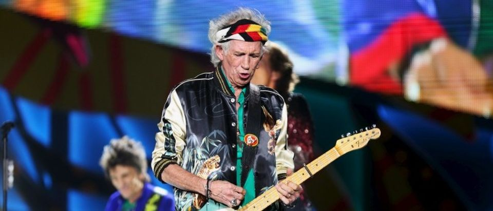 Keith Richards of the Rolling Stones performs a free outdoor concert at Ciudad Deportiva de la Habana sports complex in Havana