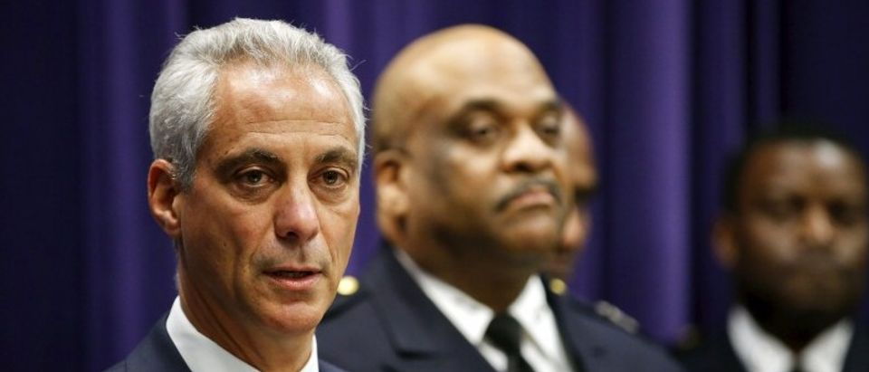 Chicago Mayor Rahm Emanuel announces that he is appointing Eddie Johnson as the Interim Superintendent of the Chicago Police Department