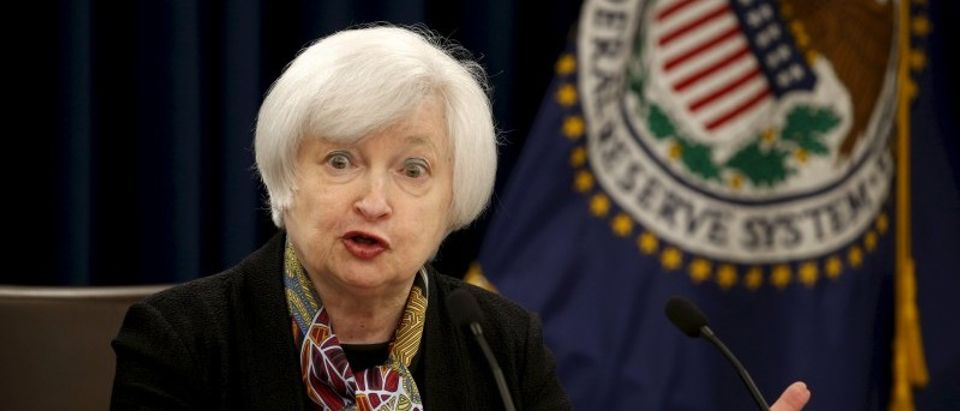 File photo of Federal Reserve Chair Janet Yellen holding a press conference in Washington