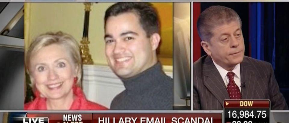 Andrew Napolitano, Hillary Clinton, Bryan Pagliano, Screen shot FBN 3-7-2016