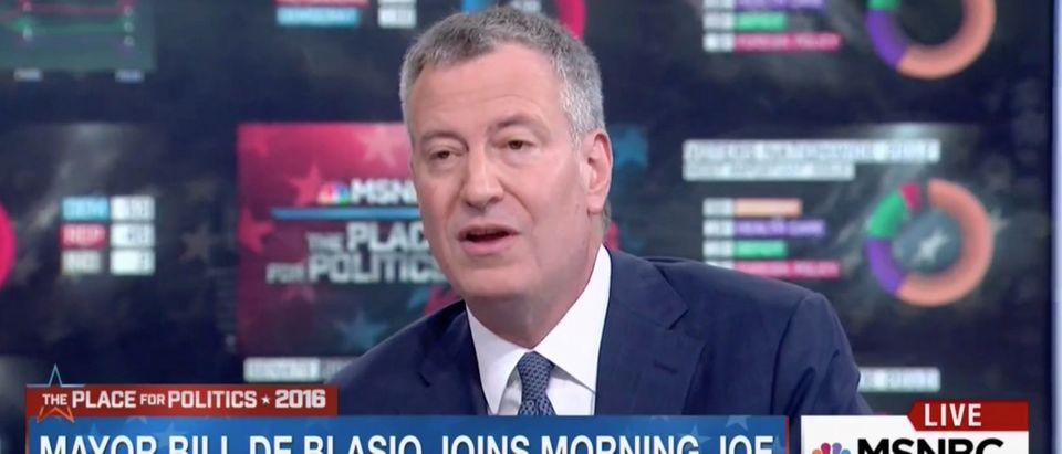 "Bill de Blasioon MSNBC's ""Morning Joe"""