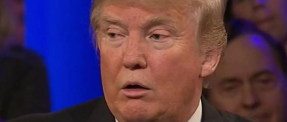 Donald Trump, Screen Shot CNN, 3-29-2016