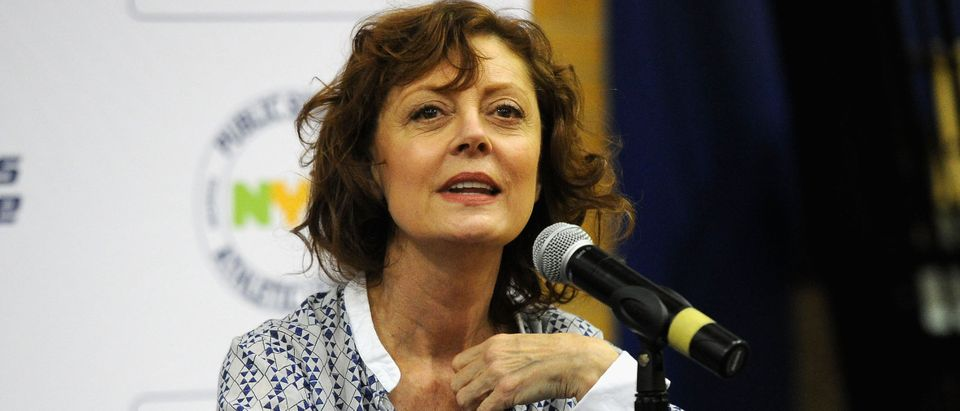Susan Sarandon Visits Brooklyn Technical High School to Donate Table Tennis Tables on Behalf of SPiN New York and STIGA
