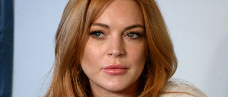 Actress Lindsay Lohan attends the Lindsay Lohan Press Conference at Social Film Loft during the 2014 Park City on January 20, 2014 in Park City, Utah