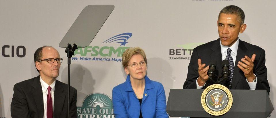 President Obama Makes Remarks To AARP in Washington