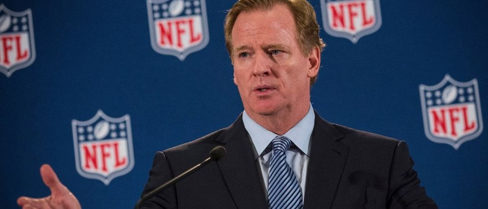 NFL Commissioner Roger Goodell Holds News Conference After Meeting With Team Owners