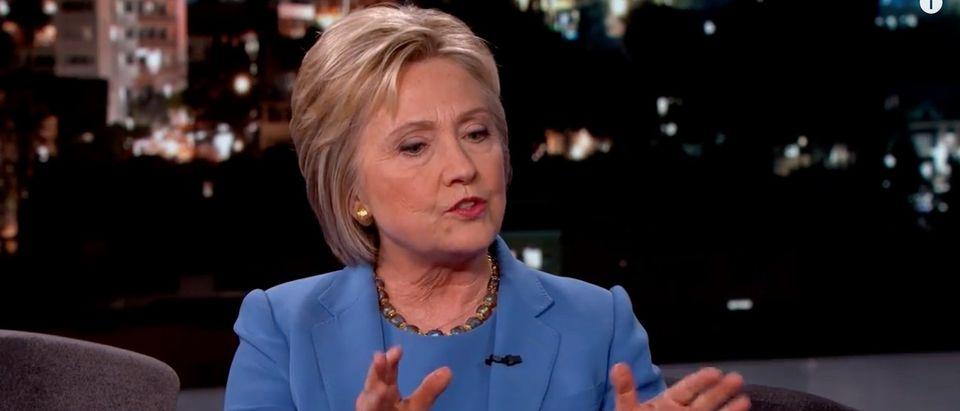 Hillary Clinton, Screen Shot Jimmy Kimmel Live YouTube, 3-25-2016