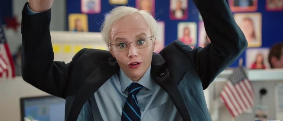 Kate McKinnon as Hillary Clinton, Screen Shot SNL YouTube, 3-13-2016