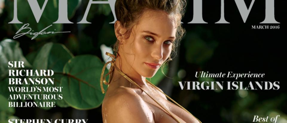 Hannah Davis on the cover of Maxim