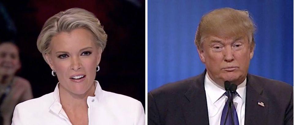Megyn Kelly, Donald Trump, images via Fox News Screen Shot 3-3-2016