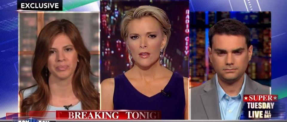 Michelle Fields, Ben Shapiro, Screen Shot Fox News Youtube, 3-14-2016