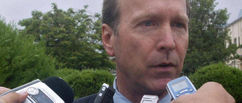 Neil Bush, younger brother of President George W. Bush talks to the press after a meeting with Paraguayan President Nicaron Duarte in Asuncion, on Feb. 28, 2008. (NORBERTO DUARTE/AFP/Getty Images)