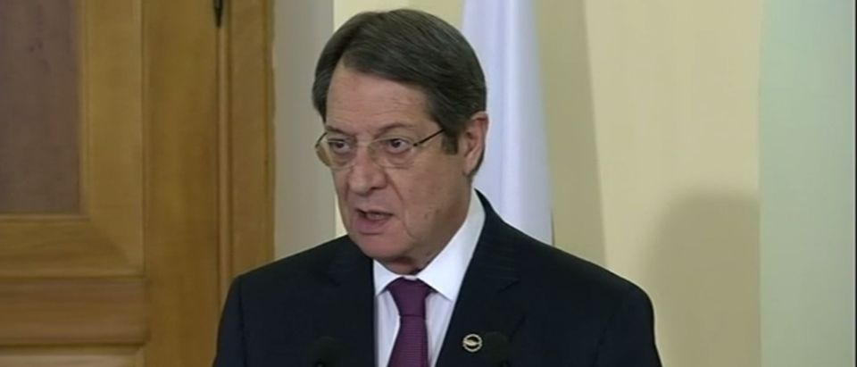 Nicos Anastasiades, Screen shot BBC, 3-29-2016