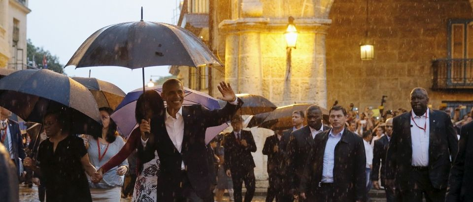 U.S. President Barack Obama tours Old Havana with his family at the start of a three-day visit to Cuba, in Havana