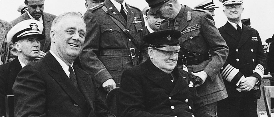 WINSTON CHURCHILL AND PRESIDENT ROOSEVELT IN PHOTO.