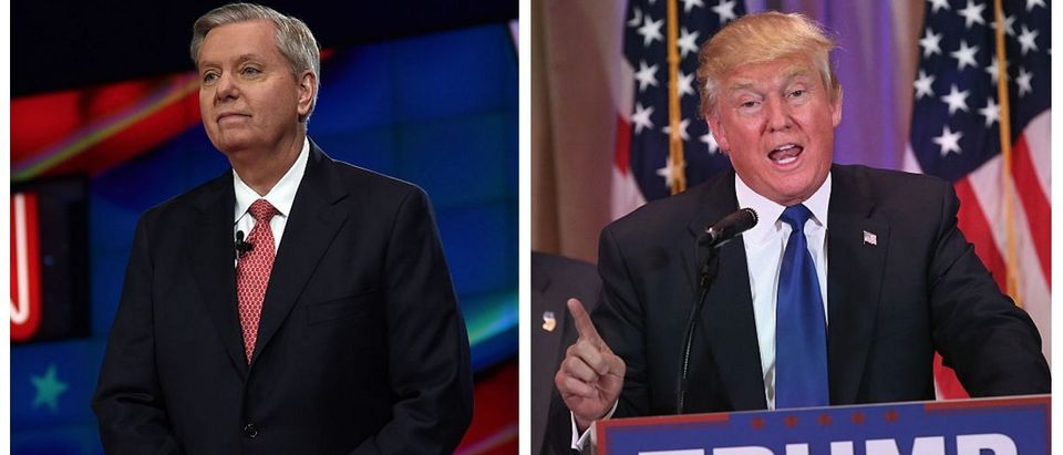 Here are photos of Lindsey Graham and Donald Trump. (Getty Images)
