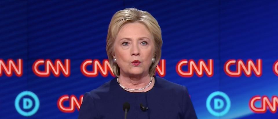 Hillary Clinton Calls For Michigan Governor's Resignation, 3/6/16 (Screen shot CNN)