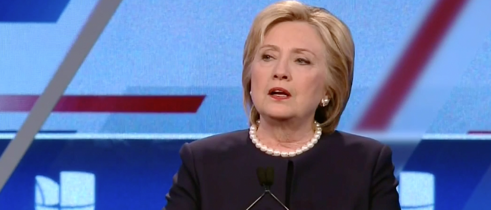 Hillary Clinton at Democratic debate, March 9, 2016. (Youtube screen grab)