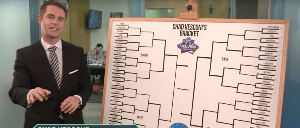 March Madness Bracket (Credit: Screenshot/Youtube The Kicker)