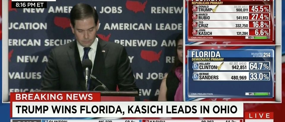 Rubio Drops Out Of 2016 Election (CNN)