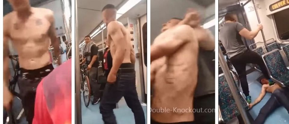 Good Samaritan Doles Out A Healthy Dose Of Street Justice On L.A. Subway (YouTube)