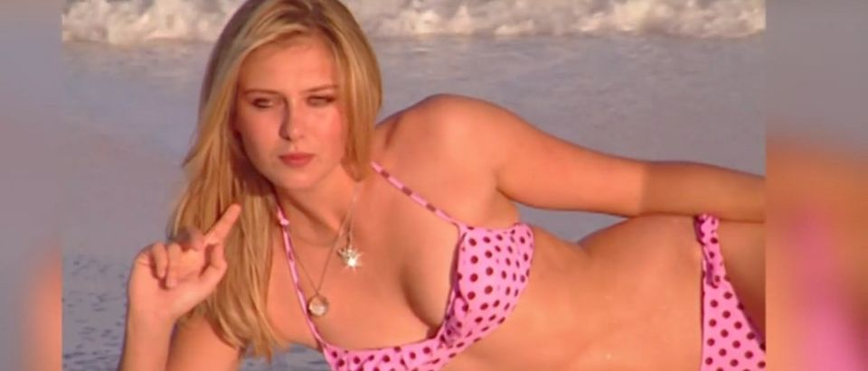 Maria Sharapova is a tennis player. (Credit: Screenshot/Youtube Sports Illustrated Swimsuit)