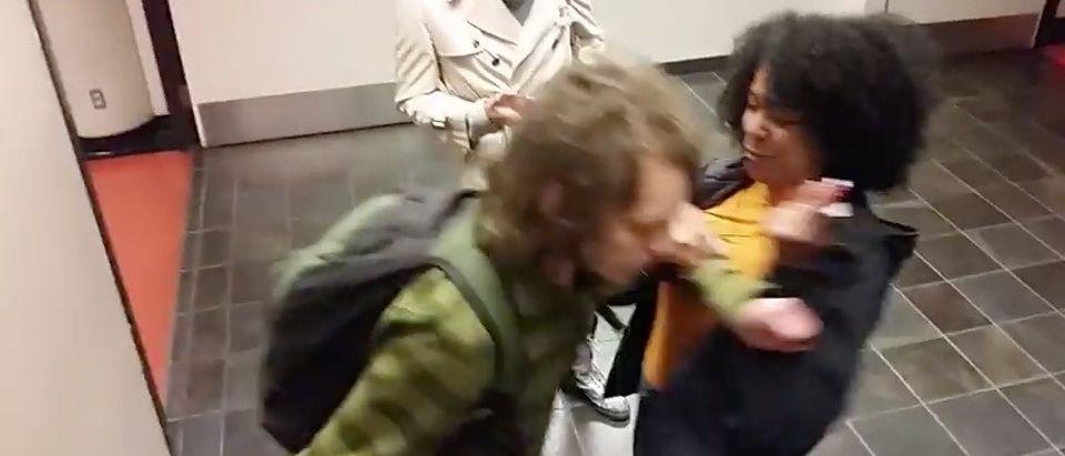 VIRAL: University Employee Assaults White Student For Having Dreadlocks (YouTube)