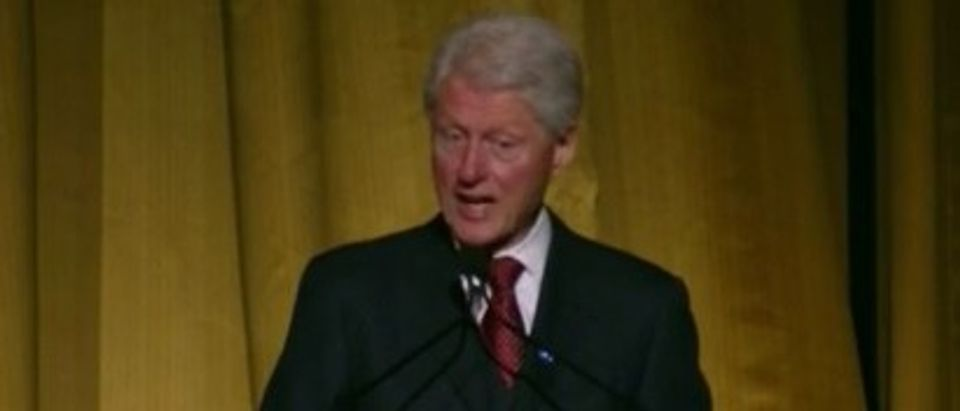 Former President Bill Clinton speaks at a New York City fundraiser for Hillary Clinton, March 2, 2016. (Youtube screen grab)