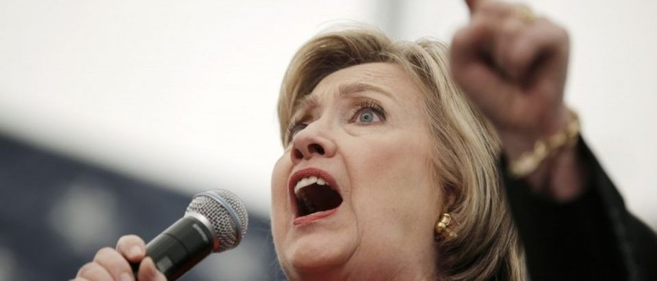 U.S. Democratic presidential candidate Hillary Clinton speaks at a campaign rally in Syracuse