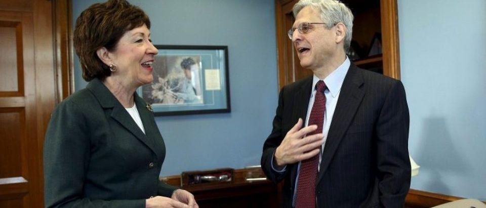 Senator Collins meets Supreme Court nominee Garland in Washington