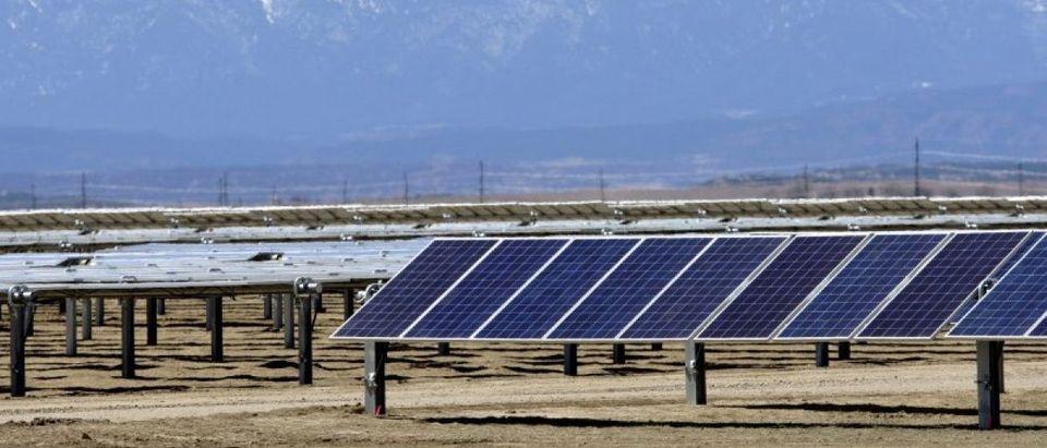The Comanche Solar facility is shown in Pueblo, Colorado