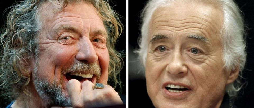 Combination file photos of Led Zeppelin lead singer Plant and guitarist Page