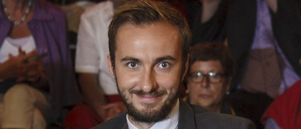 "Boehmermann, host of the late-night ""Neo Magazin Royale"" on the public ZDF channel is pictured during a TV show in Hamburg"