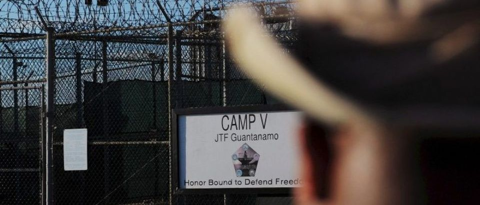 """ile photo of the outside of the """"Camp Five"""" detention facility is seen at U.S. Naval Station Guantanamo Bay"""