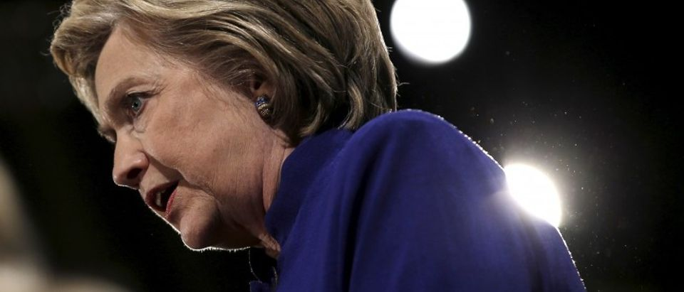 """Democratic U.S. presidential candidate Hillary Clinton speaks at a """"Women for Hillary"""" campaign rally in the Manhattan borough of New York City"""