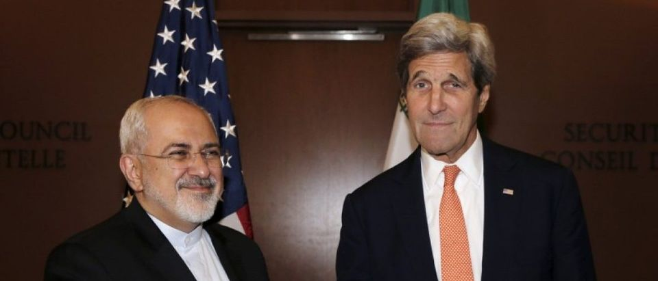 U.S. Secretary of State John Kerry meets with Iran's Foreign Minister Mohammad Javad Zarif at the United Nations Headquarters in New York