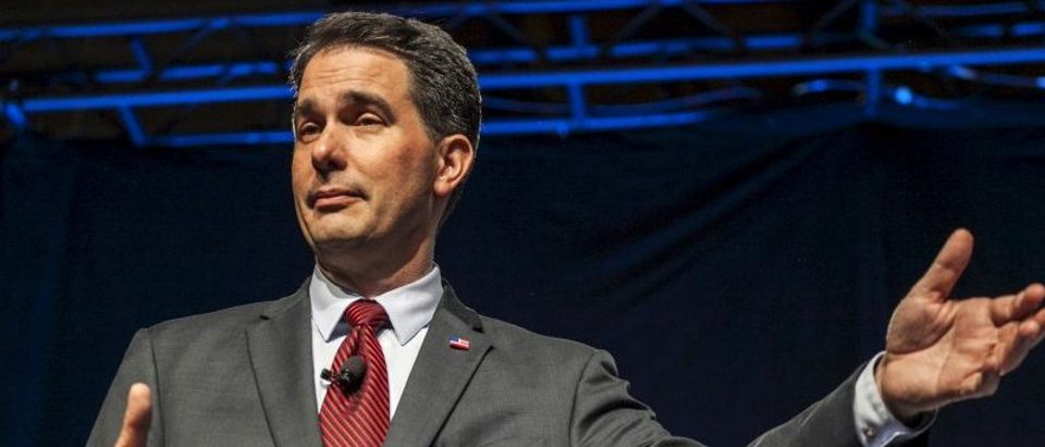 Republican presidential candidate Scott Walker speaks at the the Iowa Faith and Freedom Coalition Forum in Des Moines