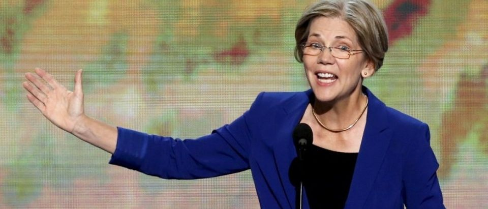 Elizabeth Warren, candidate for the U.S. Senate in Massachusetts, addresses the second session of the Democratic National Convention in Charlotte